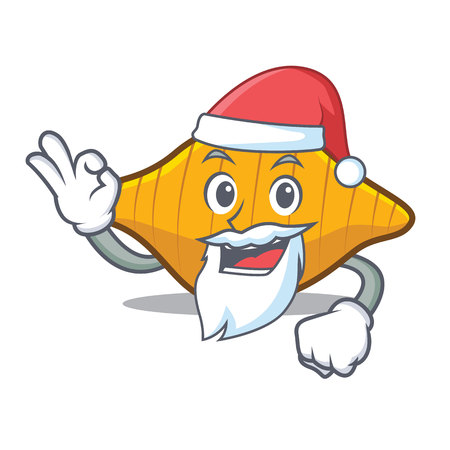 Santa conchiglie pasta mascot cartoon Illustration
