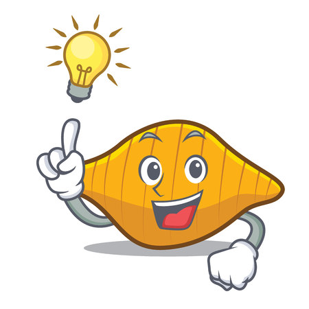 Have an idea conchiglie pasta mascot cartoon