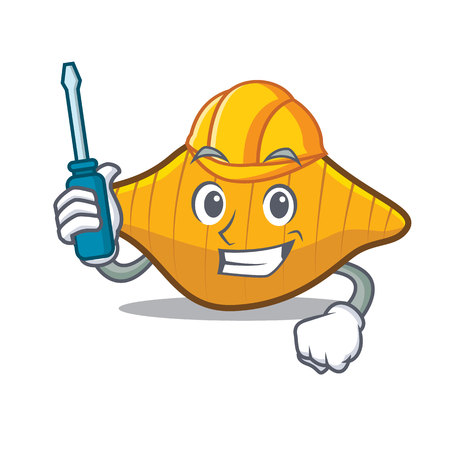 Automotive conchiglie pasta mascot cartoon