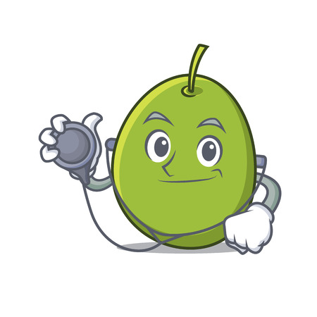 Doctor olive character cartoon style