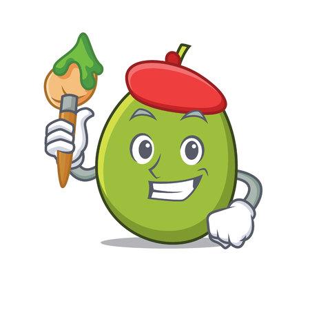 Artist olive character cartoon style illustration.