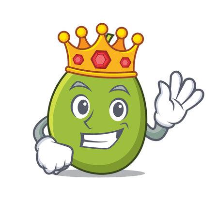 King olive mascot cartoon style vector illustration.