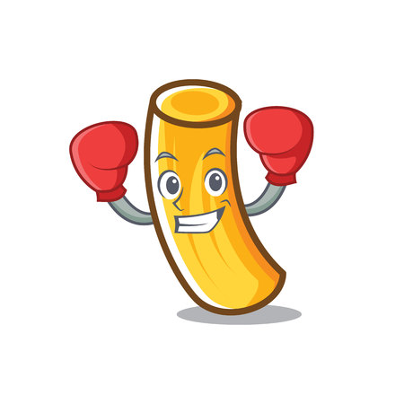 Boxing tortiglioni pasta character cartoon