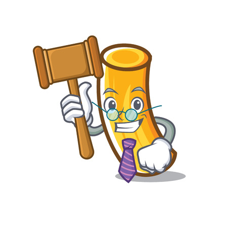 Judge tortiglioni pasta mascot cartoon
