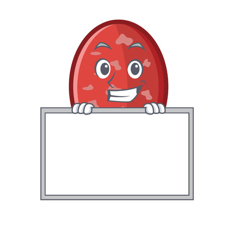 Grinning with board salami character cartoon style vector illustration Illustration