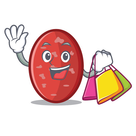 Shopping salami character cartoon style