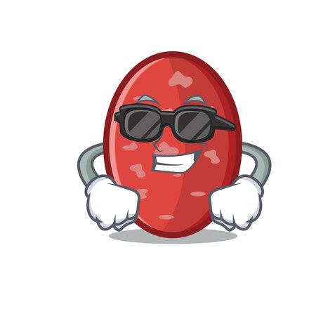 Super cool salami character cartoon style