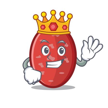 King salami mascot cartoon style
