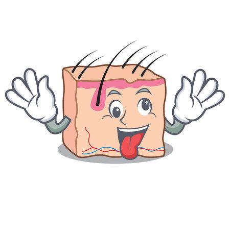 Crazy skin mascot cartoon style