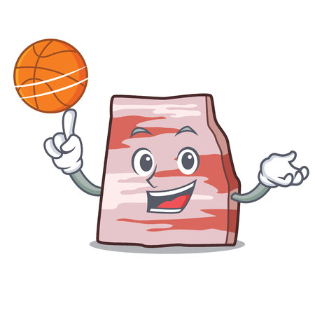 With basketball pork lard character cartoon