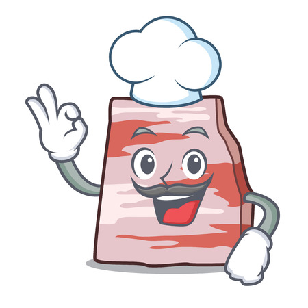 Chef pork lard character cartoon