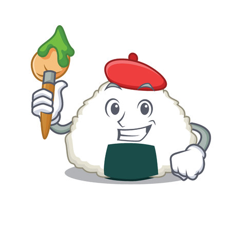 Artist Onigiri character cartoon style