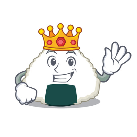 King Onigiri mascot cartoon style Illustration