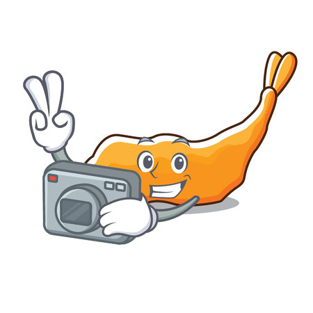 Photographer tempura mascot cartoon style