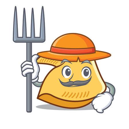 Bauer Glück Cookie Charakter Cartoon Illustration Standard-Bild - 98353415