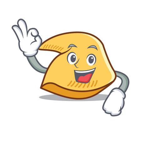 Okay Glückskeks Charakter Cartoon Illustration Standard-Bild - 98406650