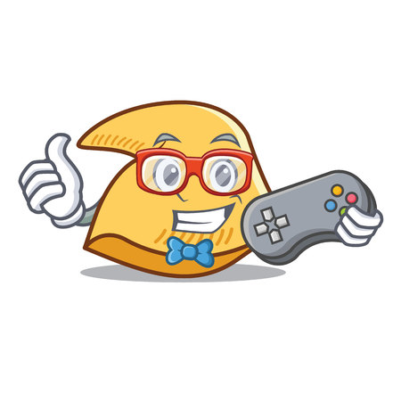 Gamer Glück Cookie Charakter Cartoon Illustration Standard-Bild - 98406908