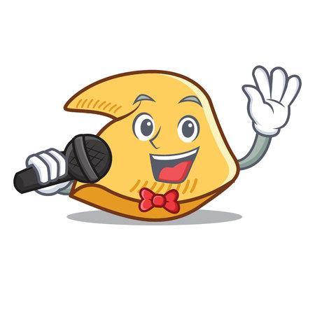 Singen Glück Cookie Charakter Cartoon Illustration Standard-Bild - 98406953