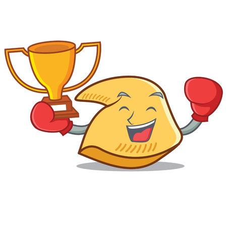 Boxing Gewinner Vermögen Cookie Charakter Cartoon Illustration Standard-Bild - 98407709