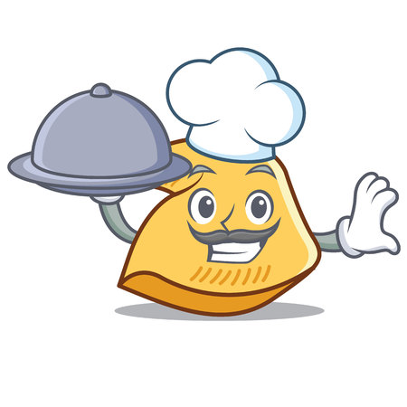 Chef with food fortune cookie character cartoon illustration. Standard-Bild - 98407989