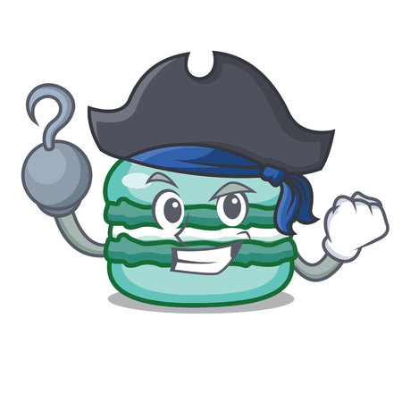 Pirate macaron character cartoon style
