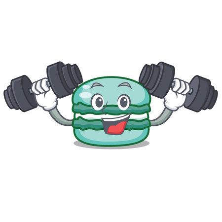 Fitness macaron character cartoon style