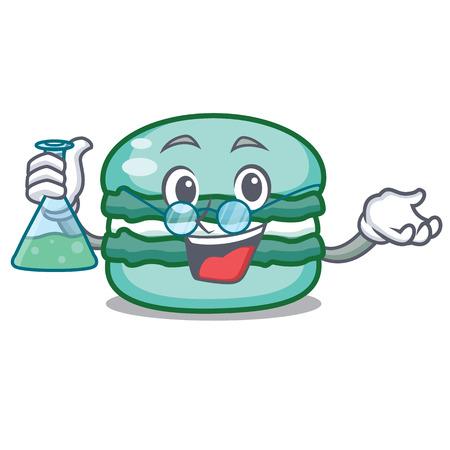 Professor macaron character cartoon style vector illustration
