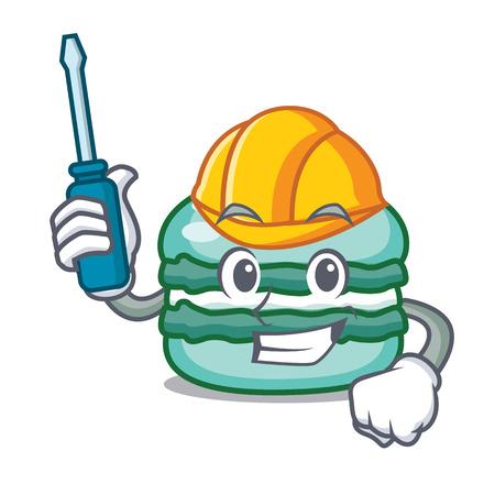 Automotive macaroon character cartoon style Illustration