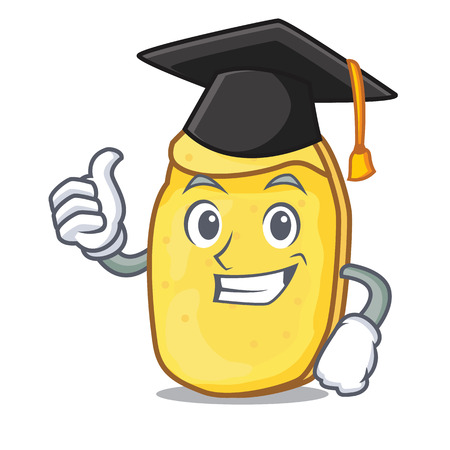 Graduation potato chips character cartoon vector illustration