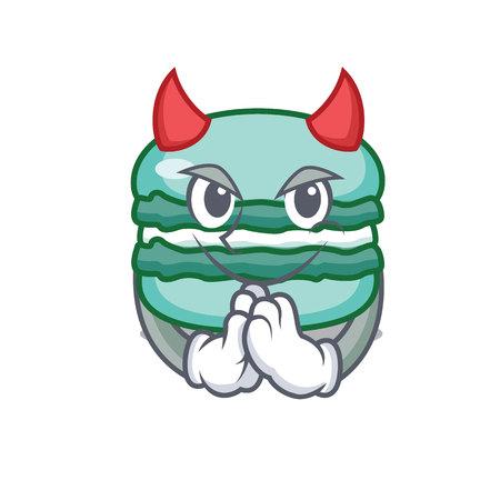 Devil macaron character cartoon style