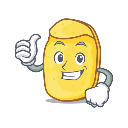 Thumbs up potato chips character cartoon