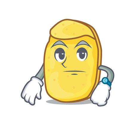 Waiting potato chips mascot cartoon
