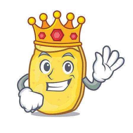 King potato chips mascot cartoon Archivio Fotografico - 98366732