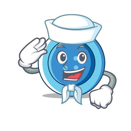 Sailor clothing button character cartoon Ilustração Vetorial
