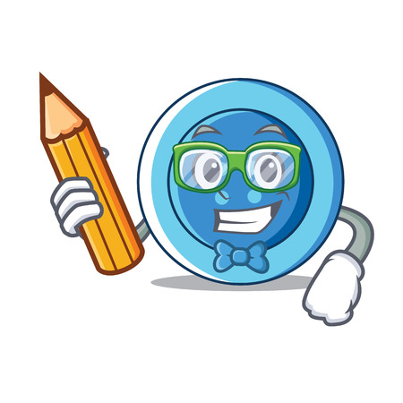 Student clothing button character cartoon