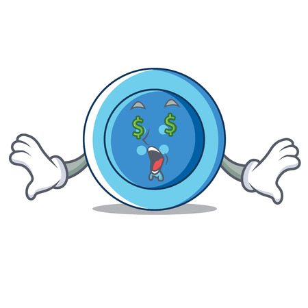 Money eye clothing button character cartoon Vectores