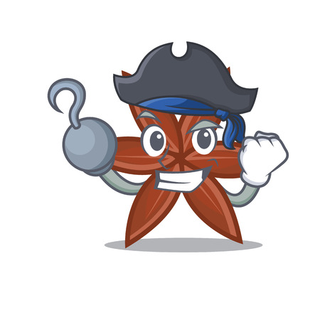 Pirate anise character cartoon style Illustration