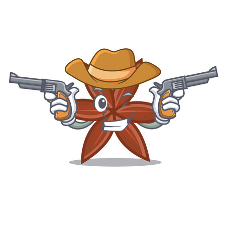 Cowboy anise character cartoon style