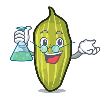 Professor cardamom character cartoon style vector illustration 일러스트