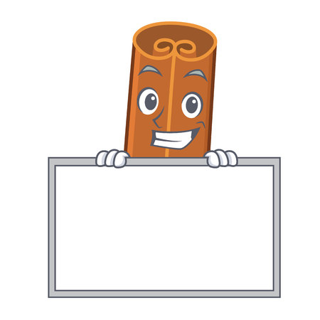 Grinning with board cinnamon character cartoon style 일러스트