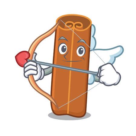 Cupid cinnamon character cartoon style Illustration