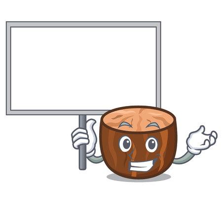 Bring board nutmeg character cartoon style vector illustration Illustration