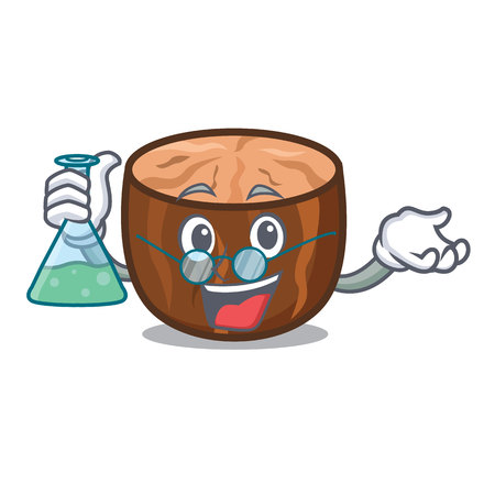Professor nutmeg character cartoon style vector illustration