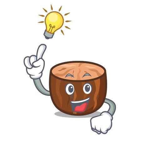 Idea nutmeg mascot cartoon style vector illustration.