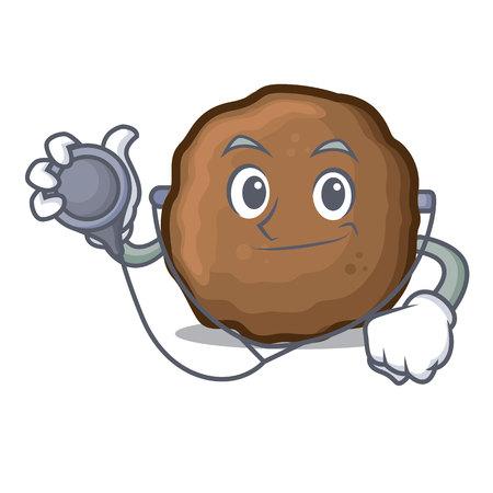 Doctor meatball character cartoon style Foto de archivo - 98839321