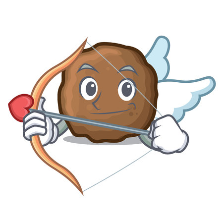 Cupid meatball character cartoon style