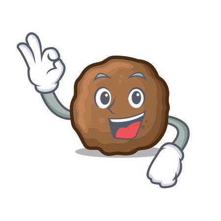 Bon style de dessin animé de personnage de boulette de viande Vecteurs