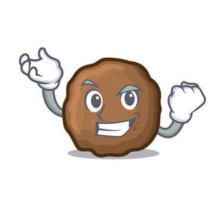 Successful meatball character cartoon style