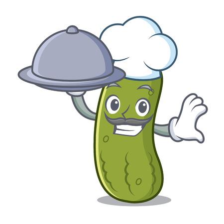 Chef pickle mascot
