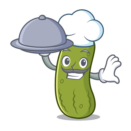 Chef pickle mascot